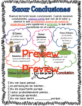 Drawing Conclusions Spanish Worksheets & Teaching Resources | TpT