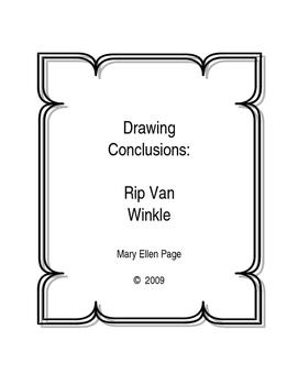 Drawing Conclusions.Rip Van Winkle