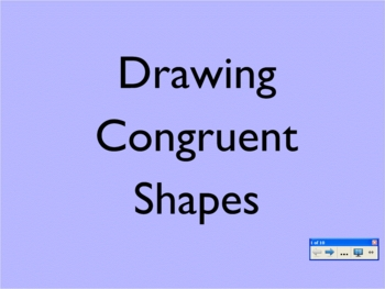 Drawing Congruent Shapes