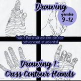 Drawing - Cross Contour Exercise, with Advanced Student Extention