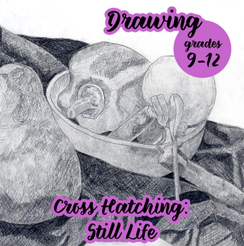 Drawing - Cross Hatched Still Life