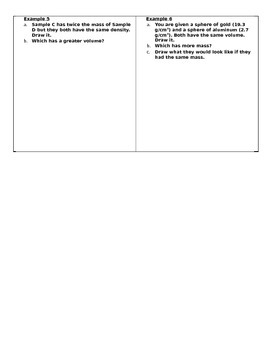 STEM/NGSS: Properties of Matter Drawing Density Models Exercise #1