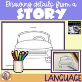 Distance Learning Auditory Memory: Drawing Details from a Story