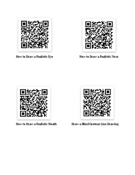 Drawing Faces QR Codes
