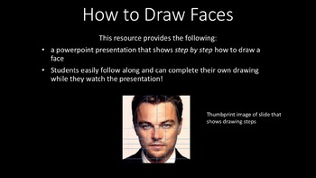 Drawing Faces Tutorial and Powerpoint