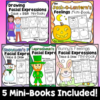 Drawing Facial Expressions Printable Easy Readers