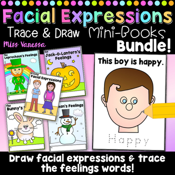 Drawing Facial Expressions Printable Easy Readers Bundle