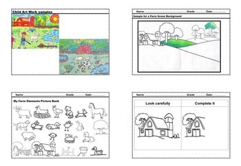 Drawing Farm Animals And Farm Scene Worksheets