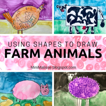 Drawing Farm Animals Using Shapes