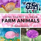 Drawing Farm Animals Using Shapes