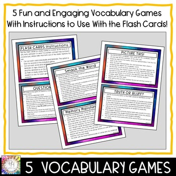 Drawing Flash (Study) Cards and Vocabulary Review Games for Secondary Students