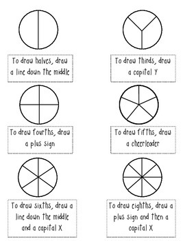 Drawing Fractions By Katherine Tripp Teachers Pay Teachers