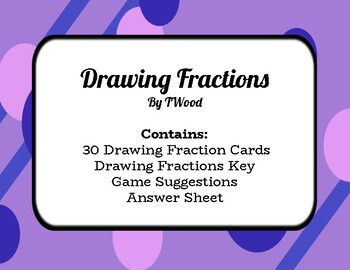 Drawing Fractions - 30 Task Cards - Color and Black/White