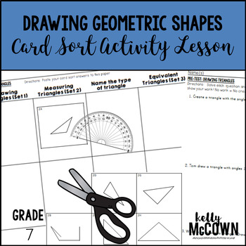 Drawing Geometric Shapes Card Sort Activity Lesson