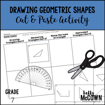 Drawing Geometric Shapes Cut & Paste Activity