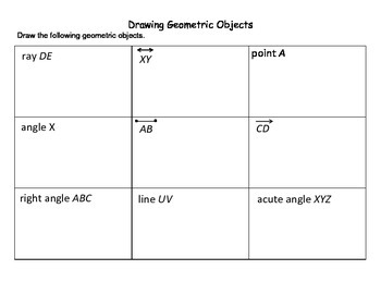 Drawing Geometric Shapes Worksheet