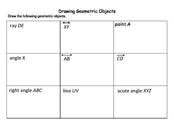 Drawing Geometric Shapes Worksheet