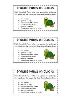 Drawing Hands on Clocks