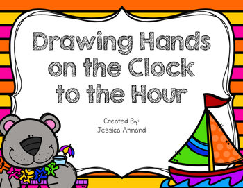 Drawing Hands on the Clock to the Hour