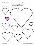 Drawing Hearts Worksheet - Valentine's Day Shapes Worksheet