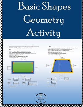 Drawing & Identifying Geometry Shapes Worksheet w/ answer key & reference sheet