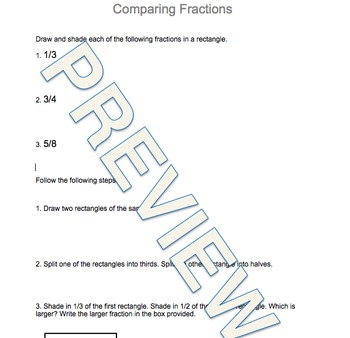 Drawing Improper Fractions and Fraction Review