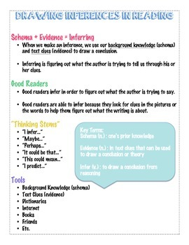 Drawing Inferences Handout