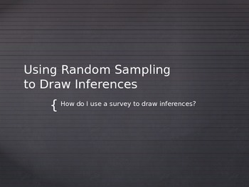 Drawing Inferences PowerPoint CCSS 7.SP.A.2 FREEBIE