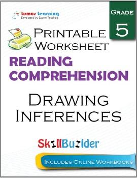 Drawing Inferences Printable Worksheet, Grade 5