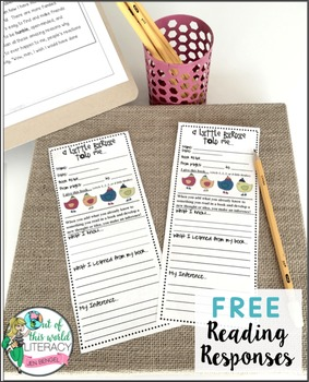 Drawing Inferences Printable bookmarks and Worksheet