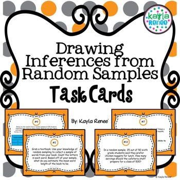 Drawing Inferences from Random Samples Task Cards: 7.SP.2