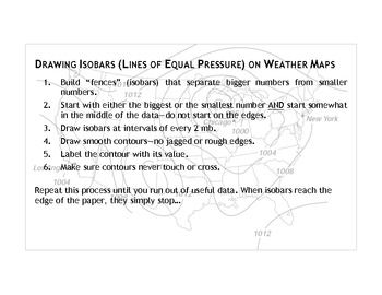 Drawing Isobars and Finding Weather Fronts
