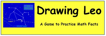 Drawing Leo - A Game to practice Math Facts