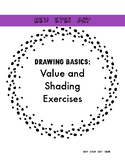 Drawing Lesson Basics! Value Shading and Texture Worksheet