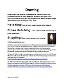 Drawing Lesson Plan, Hatching, Cross Hatching, Stippling and Cave Paintings