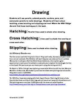 Drawing Lesson Plan, Hatching, Cross Hatching, Stippling a
