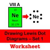 Drawing Lewis Dot Diagrams - Set 1 - Step by Step Worksheet