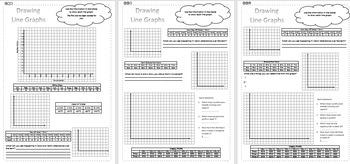Drawing Line Graphs - Differentiated Worksheets - Data/Statistics - KS2/Stage 3