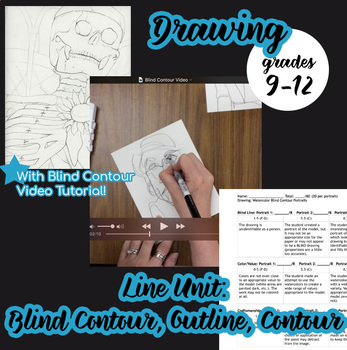Drawing - Line Unit Plan, with VIDEO demonstration