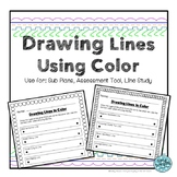 Drawing Lines Using Color: Art Handout