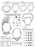 Drawing Moods & Emotion with Facial Features: Self-Identity / Character Traits
