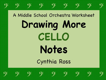 Drawing More Cello Notes