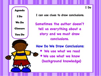 Drawing More Conclusions: PowerPoint, Worksheets, and Anchor Chart