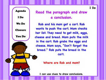 Drawing More Conclusions Powerpoint Worksheets And Anchor Chart