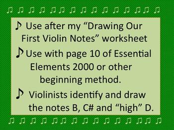 Drawing More Violin Notes