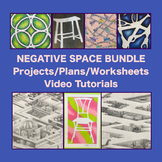 Art Drawing NEGATIVE SPACE Bundle Middle or High School Art