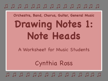Drawing Notes 1:  Note Heads