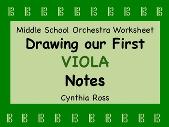 Drawing Our First VIOLA Notes
