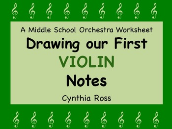 Drawing Our First VIOLIN Notes