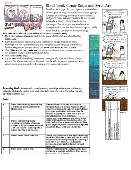 Drawing/ Painting Sketchbook Assignment: Comic Strips/ Serial Art